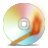 Cd, Burning, spectrum Goldenrod icon