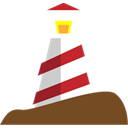 Lighthouse Black icon