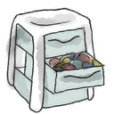 Drawer Gainsboro icon