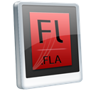 fla, File Black icon
