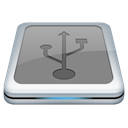 version, Usb DarkGray icon