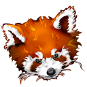 panda, roux, Firefox Black icon