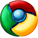 google, chrome Black icon