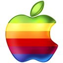 Apple, Rainbow Black icon