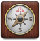 compass, Alt SaddleBrown icon