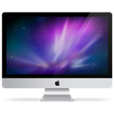 Imac, purple Black icon