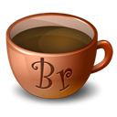 Coffee, bridge Black icon