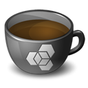 Coffee, extensionmanager Black icon