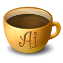 illustrator, Coffee Black icon