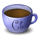 Coffee, Contribute Black icon