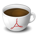 Coffee, Acrobat Black icon