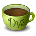 Coffee, dreamweaver Black icon