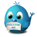 twitter, Follow, Me Black icon