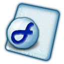 File, Coldfusion Lavender icon