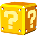 question, Block Gold icon