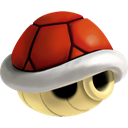 red, Shell Black icon