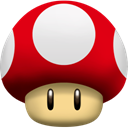 Super, Mushroom Red icon