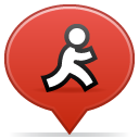Social, Balloon Firebrick icon