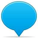 Balloon, Social DeepSkyBlue icon