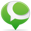Balloon, Social YellowGreen icon