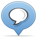 Social, Balloon SkyBlue icon