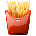 fries, french Black icon