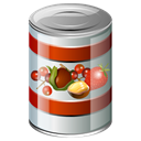 Canned, food Black icon
