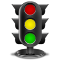 Traffic, light Black icon