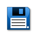 Diskette Black icon