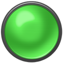 green on, button, green Icon