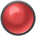 button, red on, red Brown icon