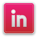Linkedin Crimson icon