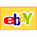 straight, Ebay, Credit card SandyBrown icon