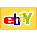 Credit card, curved, Ebay SandyBrown icon
