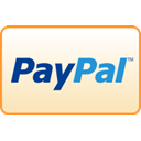 paypal, curved, Credit card Bisque icon