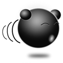 Emoticon, Emoji Black icon