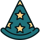 magician, wizard, party, hat, Costume Teal icon