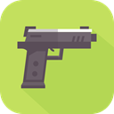 Gun, weapons, war, Arm, pistol DarkKhaki icon