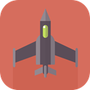 war, airplane, jet, transport IndianRed icon