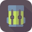 travel, luggage, Bags, Backpack, baggage DimGray icon