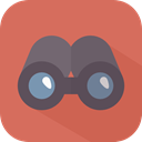 sight, Tools And Utensils, spy, see, Binoculars, Eye, Goggles IndianRed icon