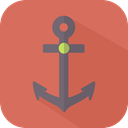 Anchor, Tools And Utensils, Sailor, tattoo, navy IndianRed icon