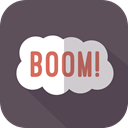 Bomb, Explosion, Exploding, signs DimGray icon