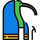 Mythology, Thoth, Egyptian, Pagan, god, Avatar DodgerBlue icon