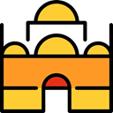 buildings, Architecture, religion, islam, islamic, Mosque, Monuments Goldenrod icon