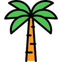 summer, tropical, Beach, Palm Tree, nature, Summertime Black icon