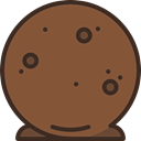 truffle, Dessert, food, sweet Sienna icon