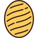 Candy, sweets, sugar, Honey, Dessert, food SandyBrown icon