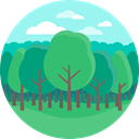 nature, landscape, trees, Tree, spruce MediumSeaGreen icon