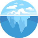 nature, iceberg, landscape, polar SteelBlue icon